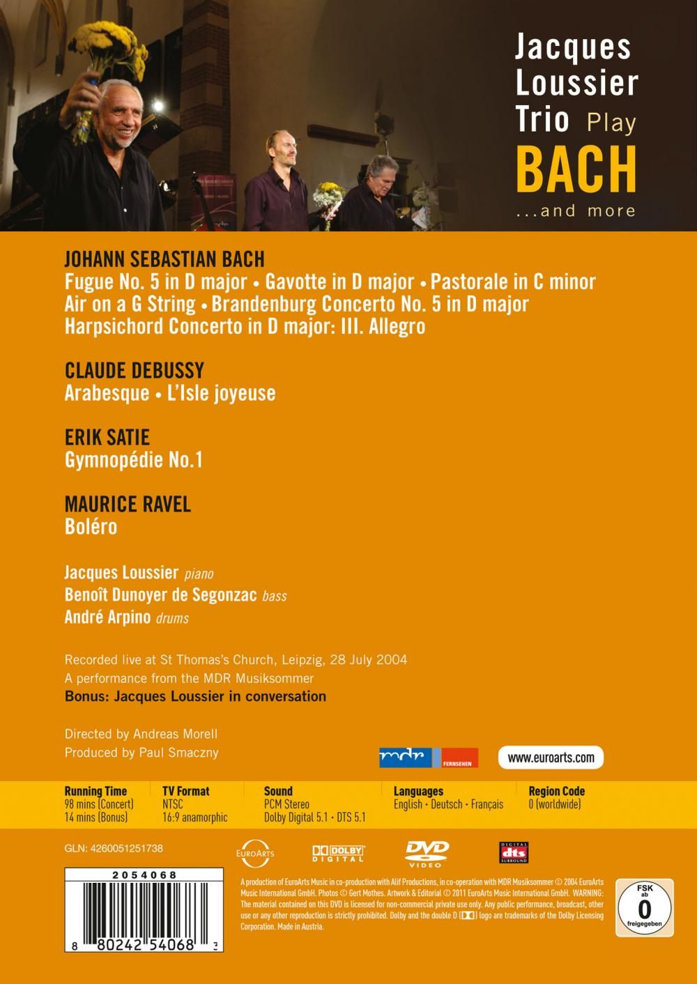 Amber Bach jacques loussier trio plays bach and more - euroarts