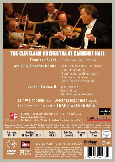 The Cleveland Orchestra At Carnegie Hall Euroarts